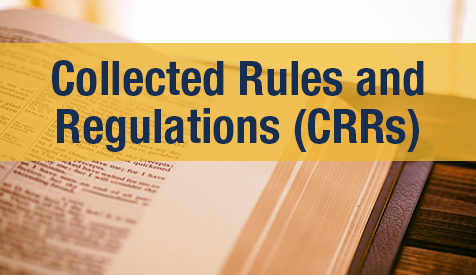 Collected Rules and Regulations