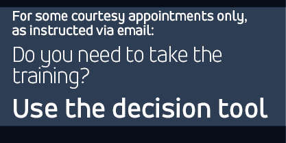 Courtesy Appointments only: Access the decision tool for the Discrimination Prevention and Title IX training, if you were instructed via email to do so