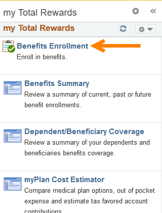 Log in to myHR to access the Benefits Enrollment section.