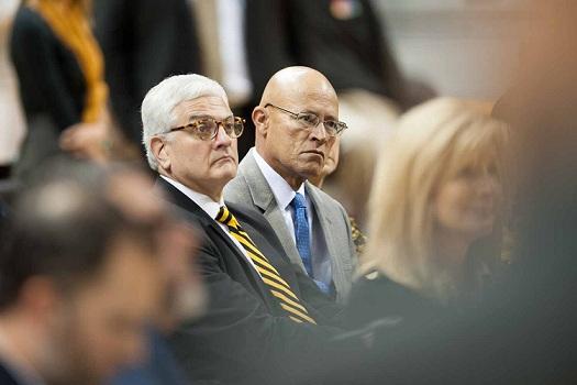 MU Interim Chancellor Hank Foley and UM System Interim President Michael Middleton