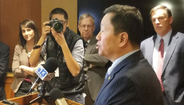 President Choi holds first availability with statewide media