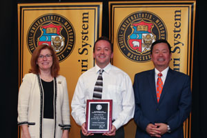 Walensky with Interim Chancellor Stokes and President Choi