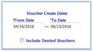 Voucher Create Dates