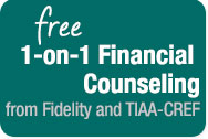 Free 1-on-1 Financial Counseling from Fidelity and TIAA-CREF