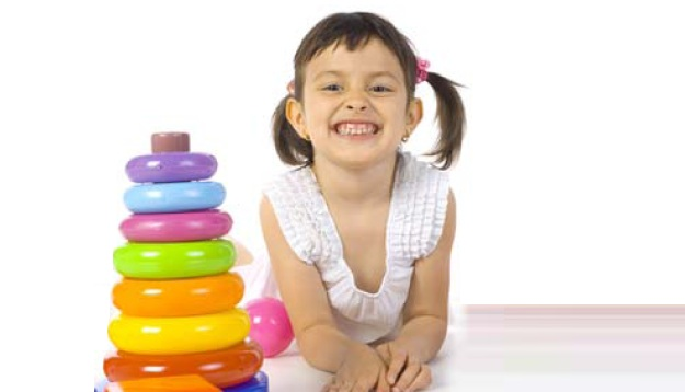 Image of girl with toys