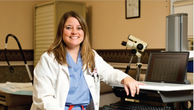 Erin Tuller, MD, sees patients with gynecollogic cancers or precancers at Ellis Fischel