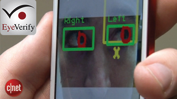 Eyeprints eye-scanning security tech exposed in video