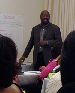 SDSBD Director Daryl Hodnett participates in a supplier diversity work session for Diversity Information Resources, Inc.(DIR)