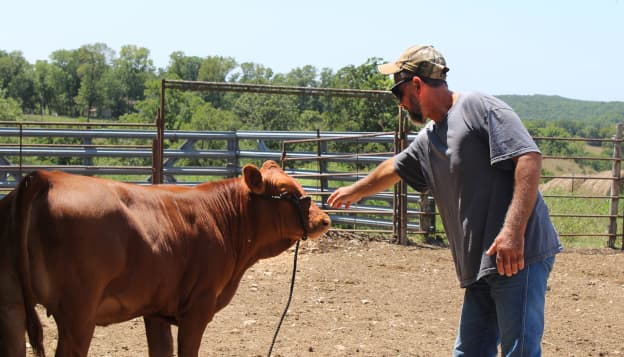 Agency partnerships help cattle farmer with hydrocephalus