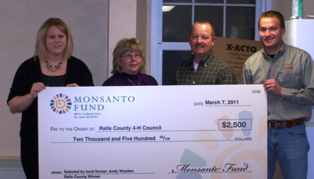 Ralls County 4H Receives Monsanto Award