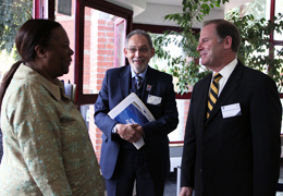 University of Missouri President Tim Wolfe with Brian O'Connell, Rector, University of the Western Cape and the Honorable Naledi Pandor, Minister of Home Affairs in the South African Government.