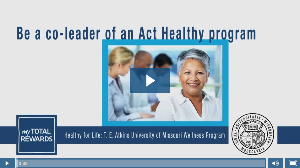 Video: Be a co-leader of an Act Healthy program