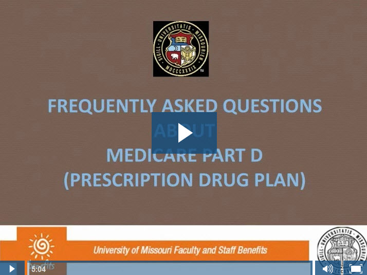 Video: Frequently Asked Questions about Medicare Part D, prescription drug plan