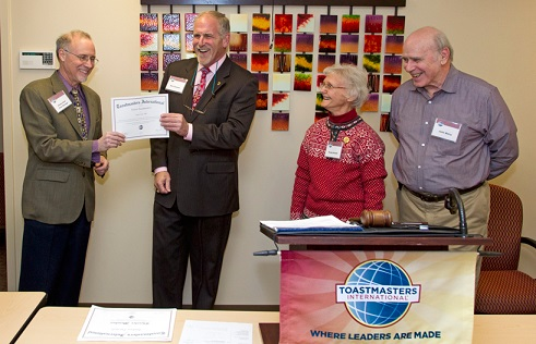 UMSL chief marketing officer earns Toastmaster distinction