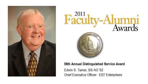 CAFNR's Edwin S. Turner Honored for Distinguished Service by MU Alumni Association