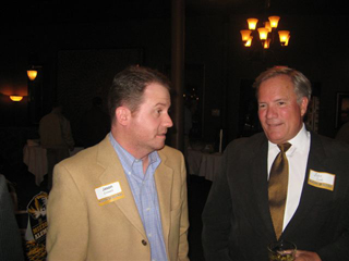 From left, Sen. Jason Crowell (R-Cape Girardeau visits with MU alum John Cook.